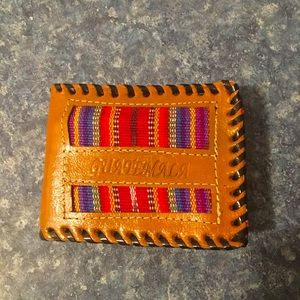 New Guatemalan Handmade Leather Bi fold Wallet